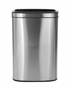 ALPINE INDUSTRIES 40 L / 10.5 GAL STAINLESS STEEL SLIM OPEN TRASH CAN, BRUSHED STAINLESS STEEL
