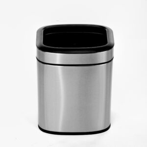 ALPINE INDUSTRIES OPEN TRASH CAN, STAINLESS STEEL, 6 L / 1.6 GAL