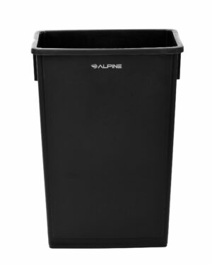 ALPINE INDUSTRIES 23 GALLON BLACK SLIM TRASH CAN