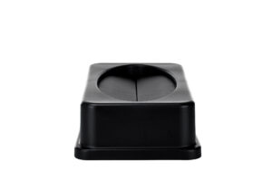 ALPINE INDUSTRIES BLACK SLIM TRASH CAN DROP SHOT LID
