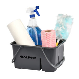 Alpine Industries Plastic Cleaning Caddy, 4-Compartment