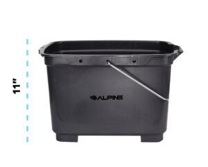 Alpine Industries 19.5 Qt. Gray Divided Plastic Bucket / Caddy