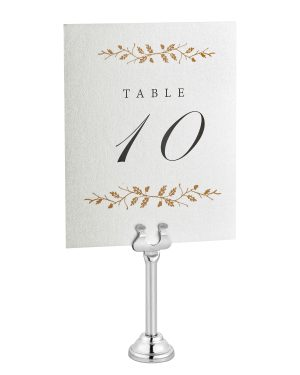3'' Place Card & Table Number Holders (Pack of 12)