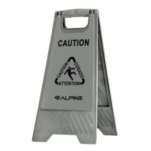 """Alpine Industries 24"""" Caution Wet Floor Sign, Gray"""