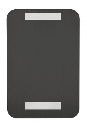ALPINE INDUSTRIES UNISEX BRAILLE RESTROOM SIGN, BLACK/WHITE, ADA COMPLIANT, 6″X9″
