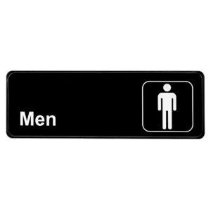 ALPINE INDUSTRIES MENS RESTROOM SIGN, 3×9
