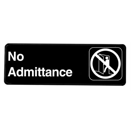 Alpine Industries No Admittance Sign, 3x9