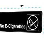 Alpine Industries No E-Cigarettes Sign, 3x9