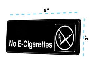 Alpine Industries No E-Cigarettes Sign, 3x9