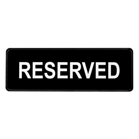 ALPINE INDUSTRIES RESERVED SIGN, 3×9