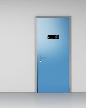 Alpine Industries Unisex Restrooms Sign, 3x9