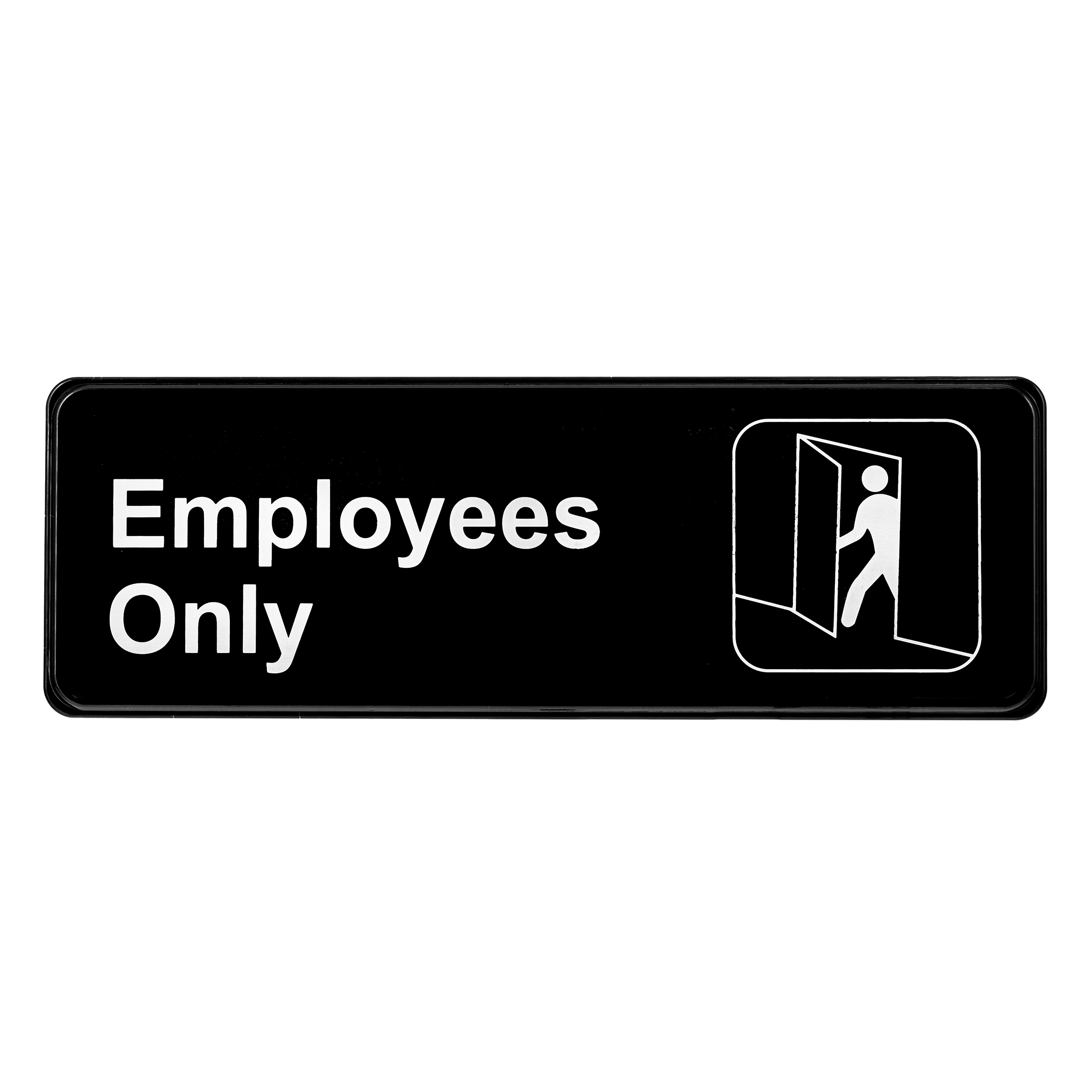 ALPINE INDUSTRIES EMPLOYEES ONLY SIGN, 3×9