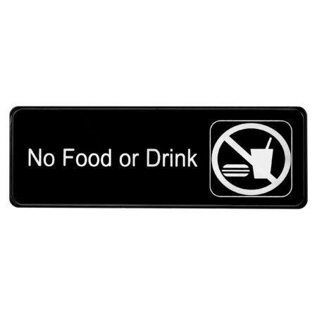 ALPINE INDUSTRIES NO FOOD OR DRINK SIGN, 3×9