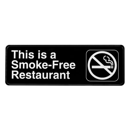 ALPINE INDUSTRIES THIS IS A SMOKE-FREE RESTAURANT SIGN, 3×9
