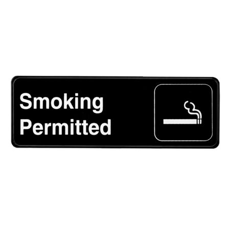 ALPINE INDUSTRIES SMOKING PERMITTED SIGN, 3×9