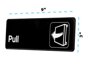 Alpine Industries Pull Sign, 3x9