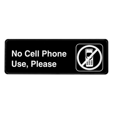 ALPINE INDUSTRIES NO CELL PHONE USE, PLEASE SIGN, 3×9