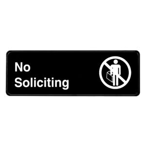 Alpine Industries No Soliciting Sign, 3x9