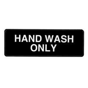 Alpine Industries Hand Wash Only Sign, 3x9