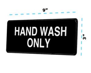 Alpine Industries Hand Wash Only Sign, 3x9