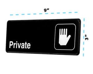 Alpine Industries Private Sign, 3x9