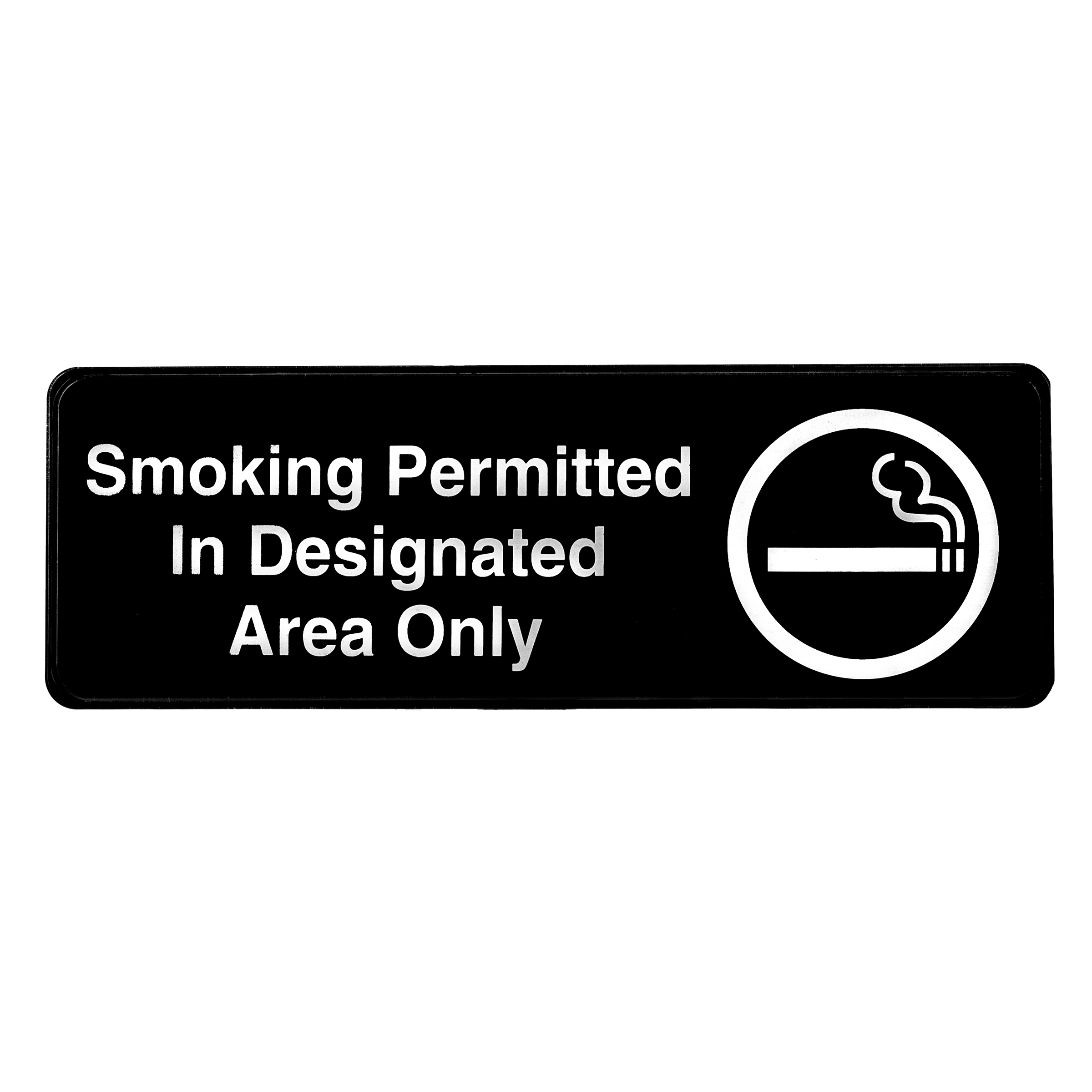 Alpine Industries Smoking Permitted in Designated Areas Only Sign, 3x9