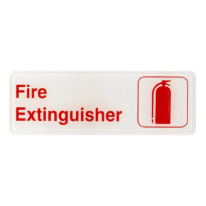 Alpine Industries Fire Extinguisher Sign, 3x9
