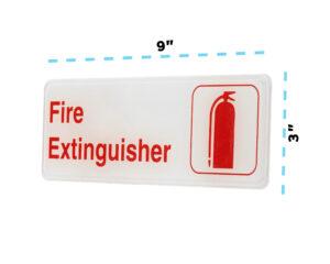 Alpine Industries Fire Extinguisher Sign, 3x9