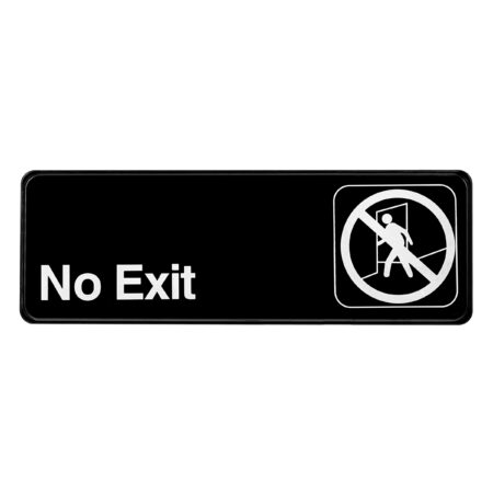 Alpine Industries No Exit Sign, 3x9