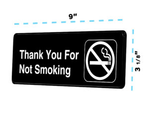Alpine Industries Thank you for Not Smoking Sign, 3x9
