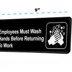 Alpine Industries Employees Must Wash Hands Before Returning to Work Sign, 3x9