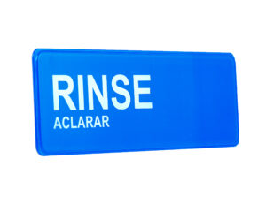 ALPINE INDUSTRIES WASH, RINSE, SANITIZE SIGNAGE 9″X3″
