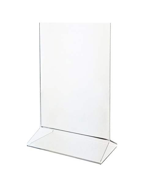 UPRIGHT FRAME TOP-LOADING ACRYLIC SIGN HOLDER 8.5″ X 11″