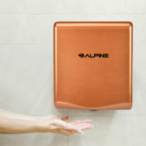 ALPINE WILLOW HIGH SPEED COMMERCIAL HAND DRYER, 120V, COFFEE
