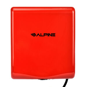 ALPINE WILLOW HIGH SPEED COMMERCIAL HAND DRYER, 120V, RED