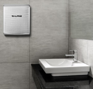 ALPINE WILLOW HIGH SPEED COMMERCIAL HAND DRYER, 220V, STAINLESS STEEL BRUSHED