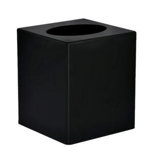 BLACK ACRYLIC TISSUE BOX COVER 5.5″ X 4.75″ X 4.75″