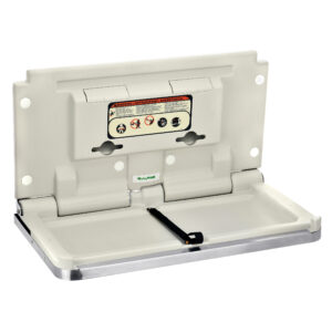 HORIZONTAL BABY CHANGING STATION, STAINLESS STEEL