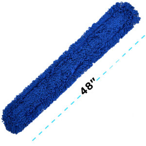 ALPINE INDUSTRIES 48″ MICROFIBER DUST/DRY MOP REPLACEMENT HEAD, 2 PACK