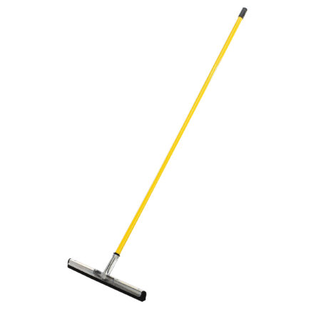HEAVY-DUTY FLOOR SQUEEGEE, 22-INCH DUAL MOSS, BLACK – WITH 50″ HANDLE