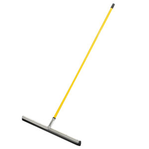 HEAVY-DUTY FLOOR SQUEEGEE, 30-INCH DUAL MOSS, BLACK – WITH 50″ HANDLE