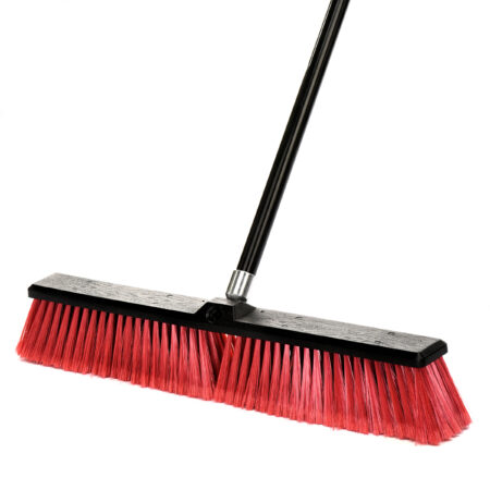 ALPINE INDUSTRIES 24″ SMOOTH SURFACE PUSH BROOM, 3 PACK