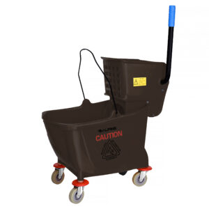 ALPINE INDUSTRIES 36 QT MOP BUCKET WITH SIDE WRINGER, BROWN