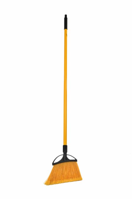 10-INCH SMOOTH SURFACE ANGLE BROOM WITH UNBREAKABLE FIBERGLASS HANDLE