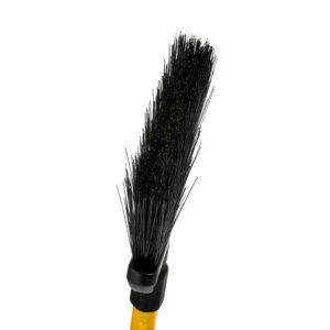 10-INCH ROUGH-SURFACE/OUTDOOR ANGLE BROOM WITH UNBREAKABLE FIBERGLASS HANDLE, PACK OF 3