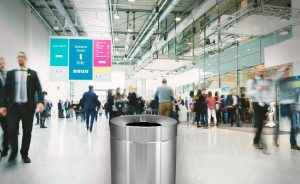 ALPINE INDUSTRIES 50 GALLON STAINLESS STEEL INDOOR TRASH CAN