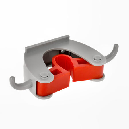 ALPINE INDUSTRIES MOP AND BROOM HOLDER, 1 HOLDER AND 2 HOOKS