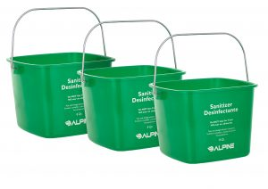 ALPINE INDUSTRIES 8 QT. GREEN CLEANING PAIL, 3 PK