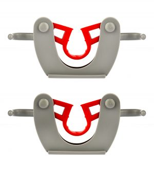 ALPINE INDUSTRIES MOP AND BROOM HOLDER, 1 HOLDER AND 2 HOOKS, DOUBLE PACK