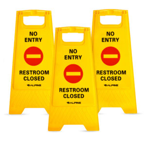 NO ENTRY RESTROOM CLOSED SIGN – PACK OF 3